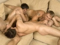 Blake and Gavin with James at Randy Blue