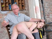 Spanked Red Boynapped