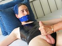 Bondage in Bed Boy Gusher