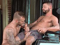 His Huge Barber Pole Titan Men