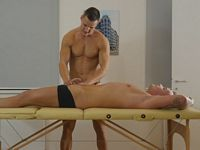 Luke Ward and Ryan Cage Gay Massage Table