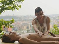 Oscar Hart and Yuri Adamov Gay Massage Table