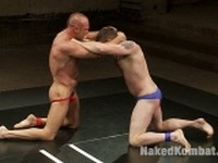 Morgan Black and Chad Brock Naked Kombat
