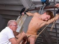 Ball Tugging Boynapped