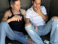 Ryan and Evan Boys Smoking