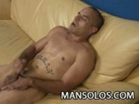 Horny Stud Masturbates with Left and Right Hand at Man Solos