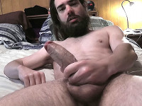 Squirting Cum in His Beard Zack Randall