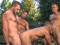 Anal Bodybuilder Hairy tit play Outdoor Sex Big Dick Raging Stallion