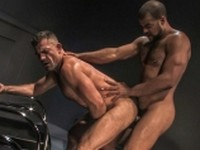 Anal Bodybuilder Hairy Interracial jockstraps rimming Raging Stallion