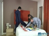 Twister Virgins at His First Gay Sex