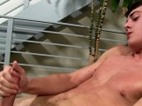 Hunter Page Busts a Nut 1 at College Dudes