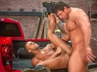Anal Sex Bodybuilder Hairy interacial Tattoos African american Falcon Studios
