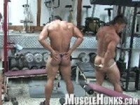 Ko and Timmy with Bill Clip 3 at Muscle Hunks