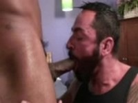 Muscle Black Dude Fucks White Guy at Just Gone Gay