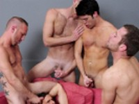 Four Tops One Bottom at Jizz Orgy