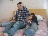 Oral Satisfaction During Gay Threesome Mature on Twinks