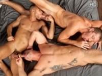 Caleb and Jayden with Sean at Randy Blue