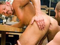 Colin Steele Geoffrey Paine Handy Men at Club Inferno Dungeon