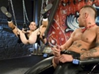 Jessie Balboa Nick Piston Red Hanky at Club Inferno Dungeon