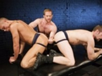 Adam Faust Bo Matthews Drew Peters Riley Scott Mister Fister at Club Inferno Dungeon
