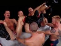 Bobby Black Chris Ward Jack Stuart Rob Edwards Scott Samson at Club Inferno Dungeon