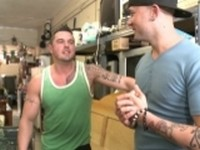Muscle Guy Gets Banged Out Out in Public