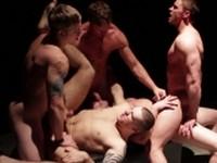 Dark Room Jizz Orgy