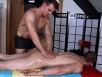 Sexy Guy Gives Massage Rub Him