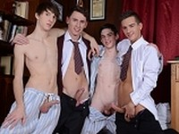Four School Lads Staxus