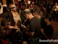 Van Darkholme and Josh West with Dirk Caber Bound in Public