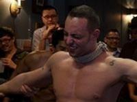Italian Bodybuilder at Bound in Public