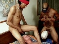 White Gay Sucking Off a Black Dick at Gay Porn Interracial