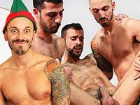Elves Run Amok UK Naked Men